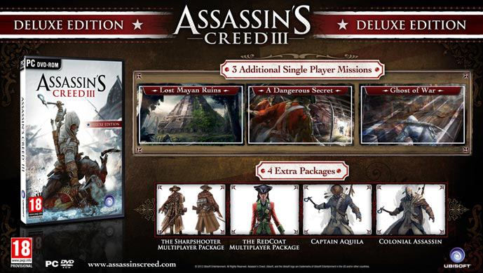 Assassin's Creed III, Digital Deluxe Edition