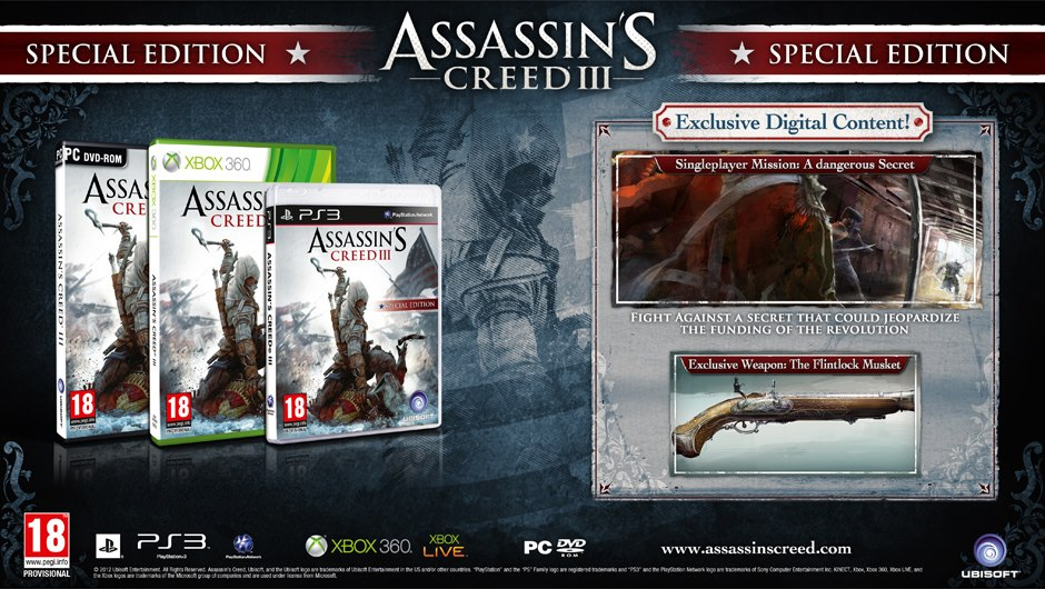 Assassin's Creed III, Special Edition