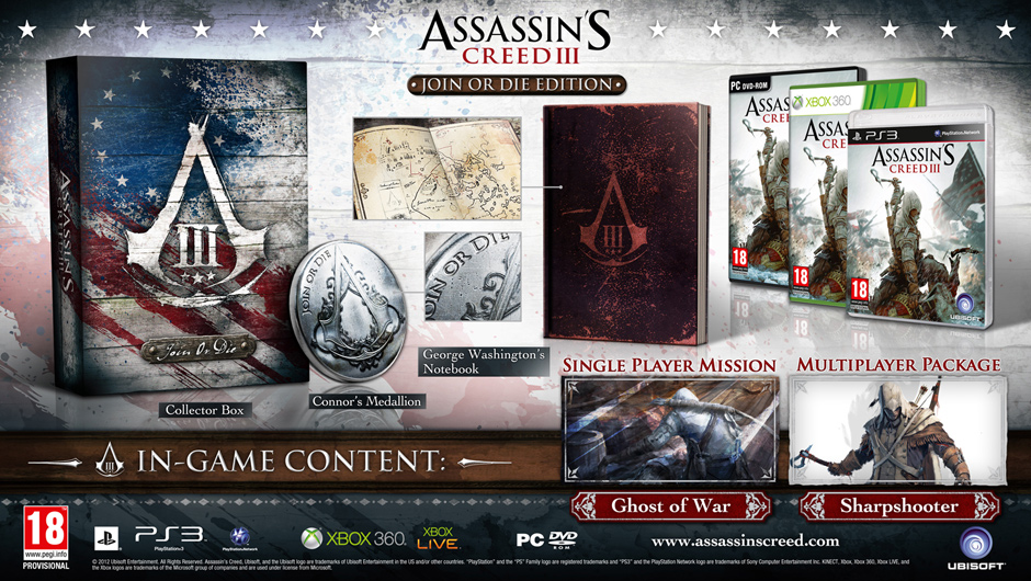 Assassin's Creed III, Join or Die Edition