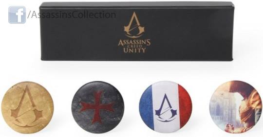 Assassin's Creed Unity Pin Badge Set