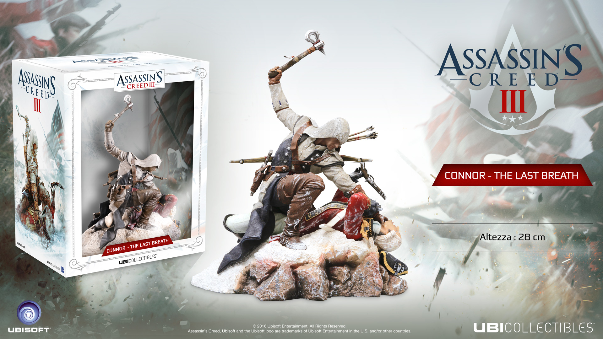 ASSASSIN'S CREED® III: CONNOR – THE LAST BREATH FIGURINE (28 CM)