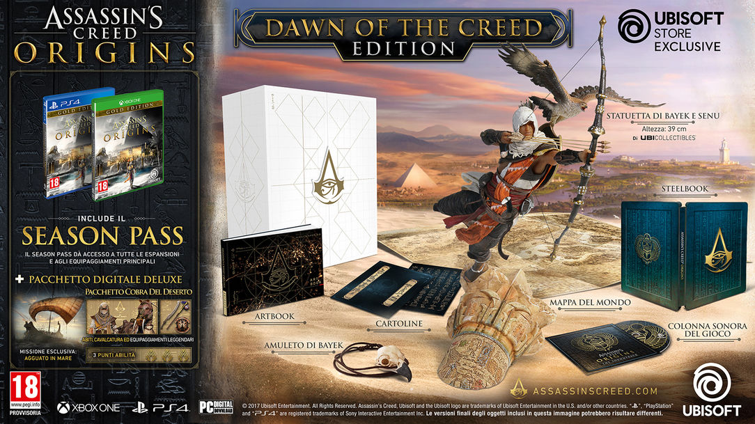 ASSASSIN'S CREED® ORIGINS – DAWN OF THE CREED COLLECTOR'S CASE